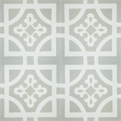 Handmade ARMONIA encaustic tile of French pattern, four tile view - Rever Tiles.