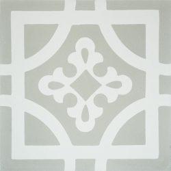 Handmade ARMONIA encaustic tile of French pattern, single tile view - Rever Tiles.