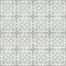 Handmade ARMONIA encaustic tile of French pattern, floor view - Rever Tiles.