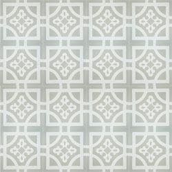 Handmade ARMONIA encaustic tile of French pattern, floor view - Rever Tiles.