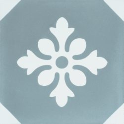 Handmade ESCAMA encaustic tile of French design, single tile view - Rever Tiles.