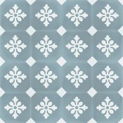 Handmade ESCAMA encaustic tile of French design, floor view - Rever Tiles.