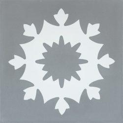 Handmade JAEN encaustic tile of old Spanish design, single tile view - Rever Tiles.