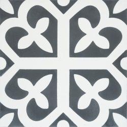 Handmade SPIRIT encaustic tile of French pattern, single tile view - Rever Tiles.