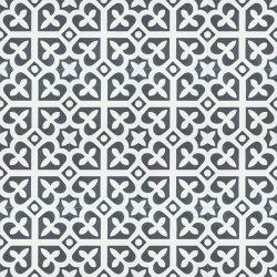 Handmade SPIRIT encaustic tile of French pattern, floor view - Rever Tiles.