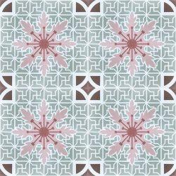 Handmade CUBA encaustic tile in an elaborate Cuban pattern, floor view - Rever Tiles