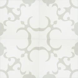 Handmade ANGEL encaustic tile of old Spanish design, four tile view - Rever Tiles.