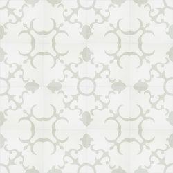 Handmade ANGEL encaustic tile of old Spanish design, floor view - Rever Tiles.