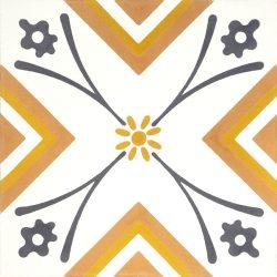 Handmade SOLAIRE encaustic tile of contemporary design, single tile view - Rever Tiles.