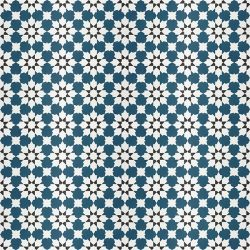 Handmade CASABLANCA encaustic tile with an authentic Moroccan design; opulent, colourful and beautifully detailed, floor view - Rever Tiles.