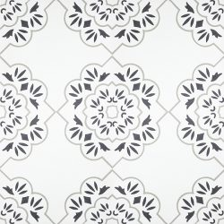 Handmade PARI encaustic tile, with design that is redolent of everything that is Paris, is graceful and enchanting. Single tile view - Rever Tiles.