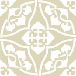 Our exclusive Orsola-1 encaustic tile is indeed special. An 1880's design, Orsola with its graceful curves offers a sophisticated sensibility. Four tile view - Rever Tiles.