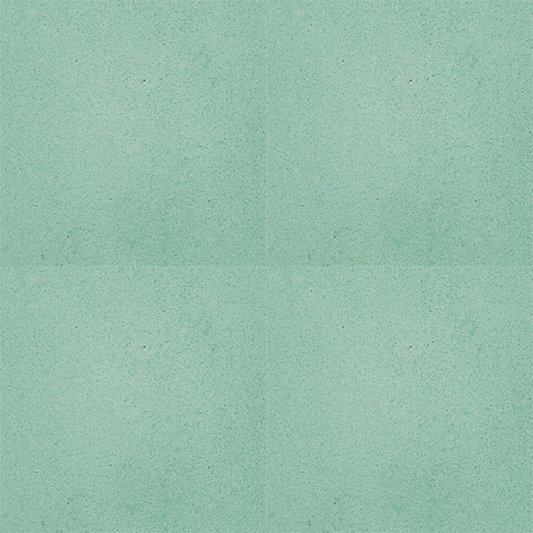 Our TURQUOISE solid colour encaustic tile with sublime green hue lends itself wonderfully to so many spaces and architectural styles. Four tile view - Rever Tiles.